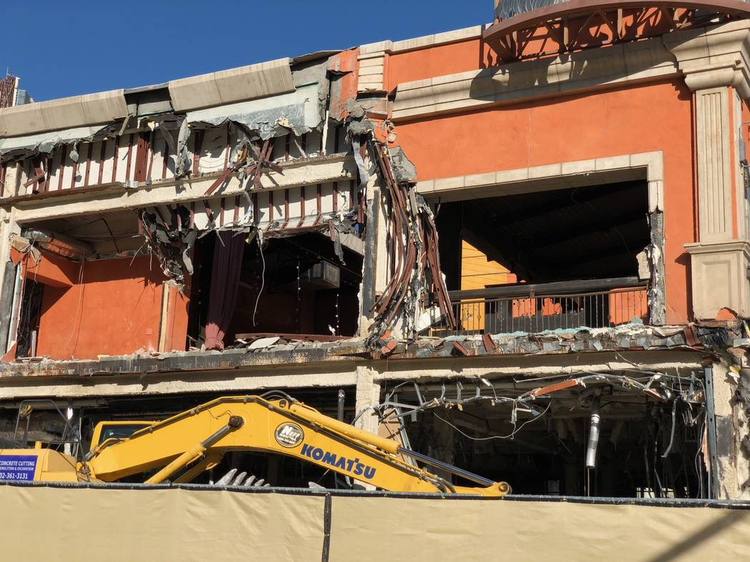 Construction outside Monte Carlo on Dec. 20, 2017. Todd Prince Review-Journal