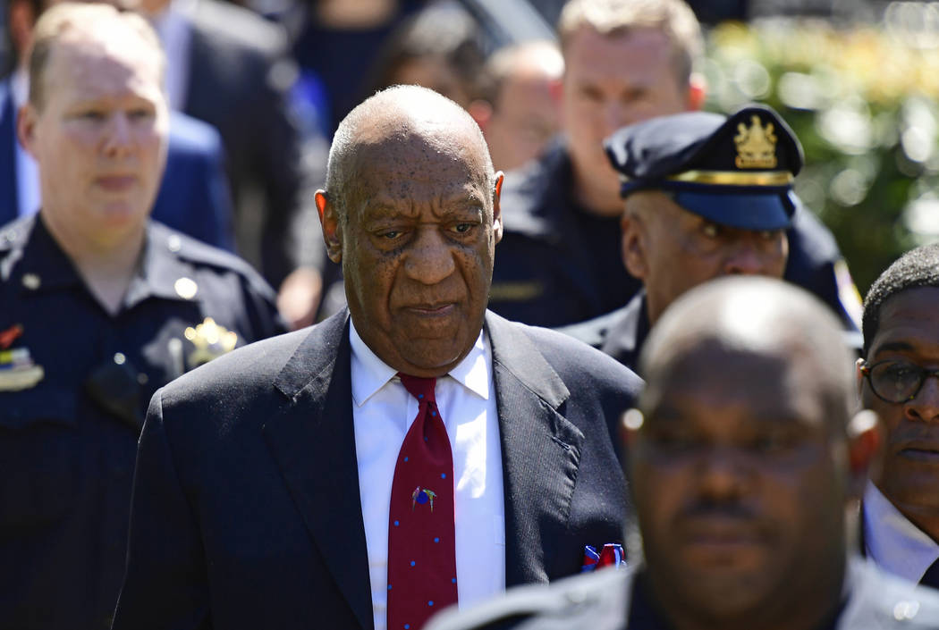 Bill Cosby leaves his sexual assault trial at the Montgomery County Courthouse, Thursday, April 26, 2018, in Norristown, Pa. Cosby was found guilty. (Corey Perrine/AP)