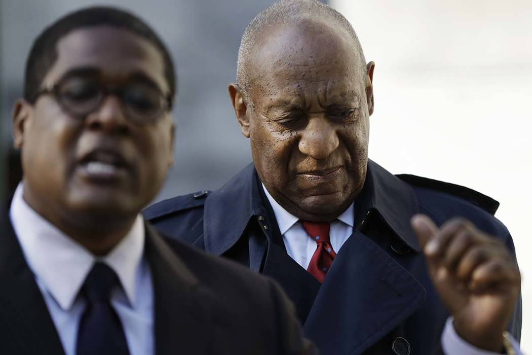 Bill Cosby arrives during jury deliberations in his sexual assault retrial, Thursday, April 26, 2018, at the Montgomery County Courthouse in Norristown, Pa. (Matt Slocum/AP)