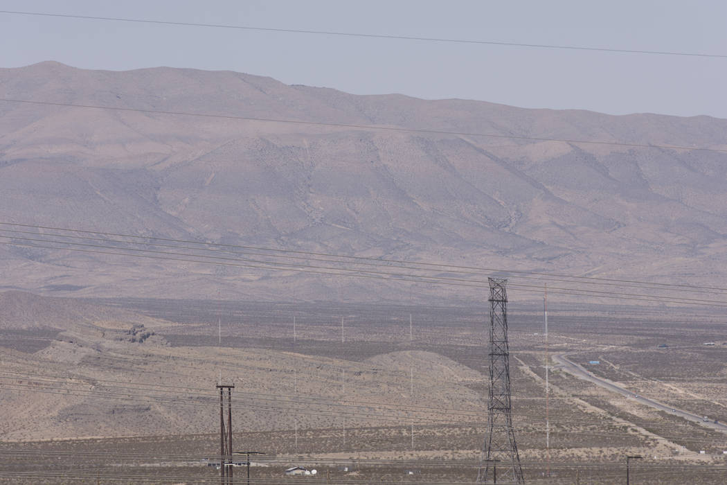 Apex Industrial Park near U.S. Highway 93 and Interstate 15 in North Las Vegas. A company known as Marapharm is planning a roughly 300,000-square-foot development for recreational marijuana cultiv ...