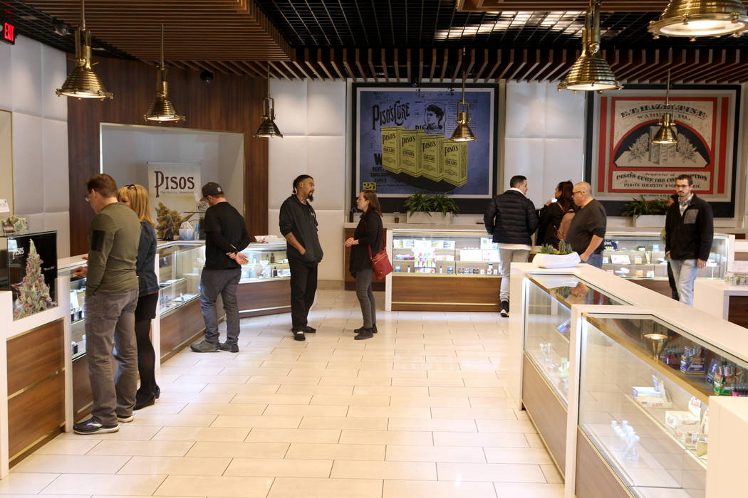 Pisos dispensary, at 4110 S. Maryland Parkway is on the forefront of using cryptocurrency in the Nevada marijuana industry. (K.M. Cannon RJRealEstate.Vegas)