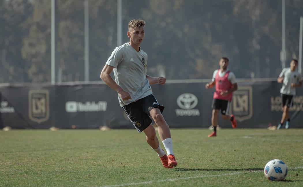 Bishop Gorman graduate Tristan Blackmon trains with Major League Soccer's Los Angeles FC. (Los Angeles FC)