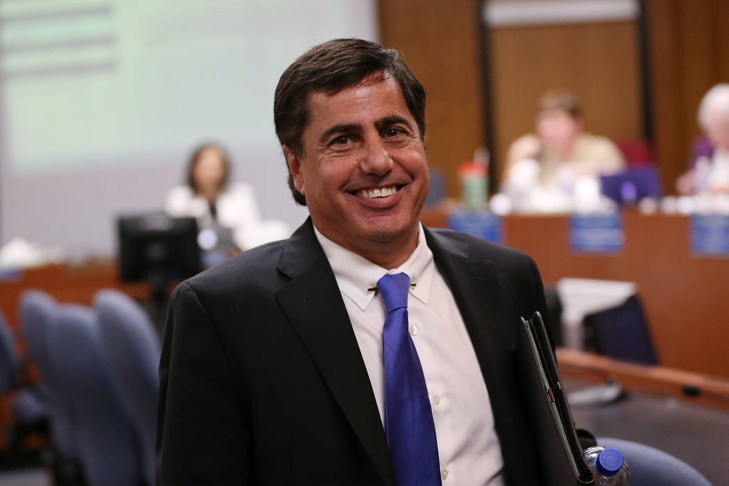 Donald T. Haddad, superintendent candidate for Clark County School District, during a CCSD Board of Trustees meeting at CCSD's education center in Las Vegas in Las Vegas, Friday, April 27, 2018. E ...