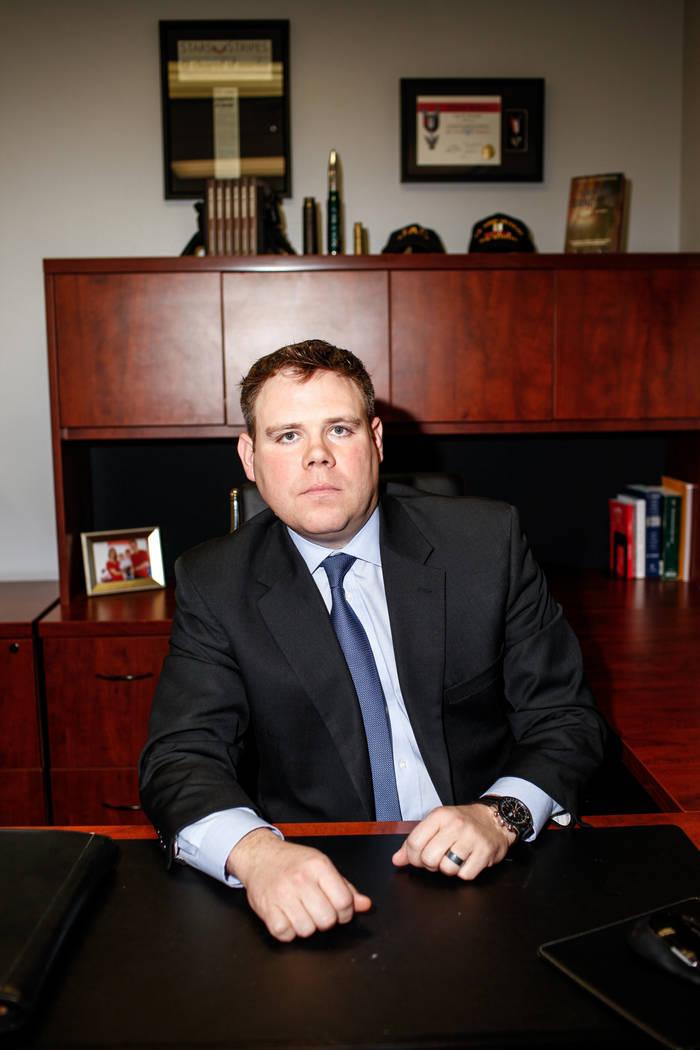 Attorney Craig W. Drummond, 38, inside his law firm office in Las Vegas, Thursday, Nov. 16, 2017. Joel Angel Juarez Las Vegas Review-Journal @jajuarezphoto