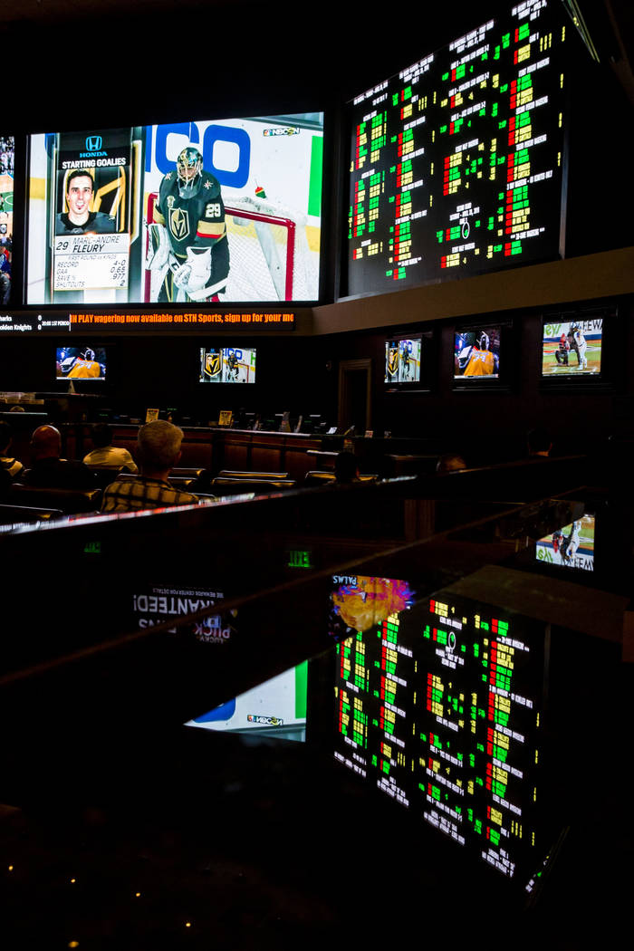 Sports betting lines are displayed at the Green Valley Ranch sports book in Henderson on Thursday, April 26, 2018. Patrick Connolly Las Vegas Review-Journal @PConnPie