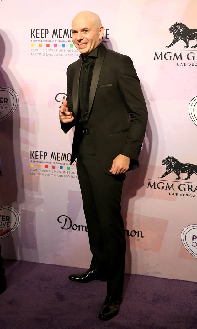 Planet Hollywood resident headliner Pitbull on the purple carpet at the 22nd annual Power of Love gala in the MGM Grand Garden Arena in Las Vegas Saturday, April 28, 2018. The event benefits the C ...