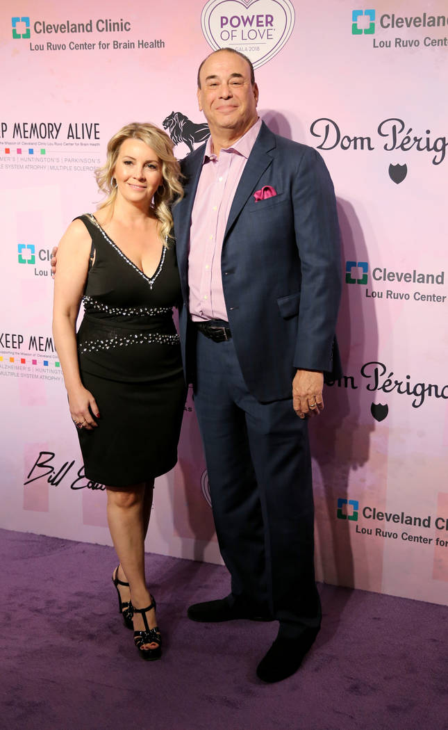 Bar Rescue host Jon Taffer and his wife Nicole Taffer on the purple carpet at the 22nd annual Power of Love gala in the MGM Grand Garden Arena in Las Vegas Saturday, April 28, 2018. The event bene ...