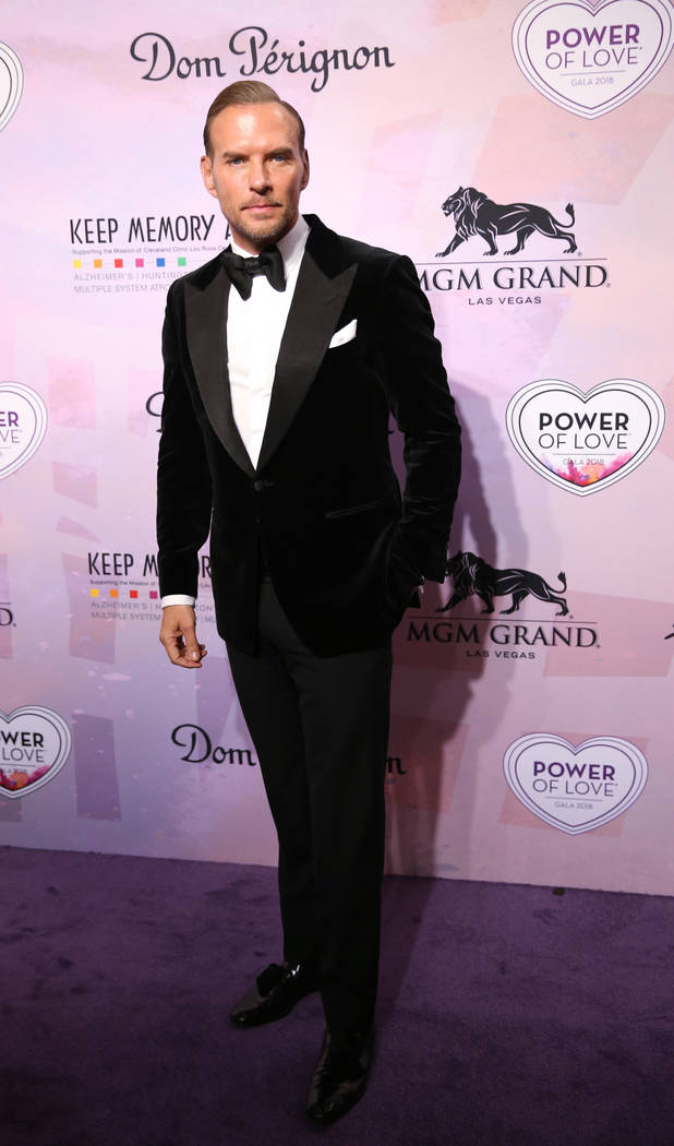 Singer-songwriter Matt Goss on the purple carpet at the 22nd annual Power of Love gala in the MGM Grand Garden Arena in Las Vegas Saturday, April 28, 2018. The event benefits the Cleveland Clinic ...