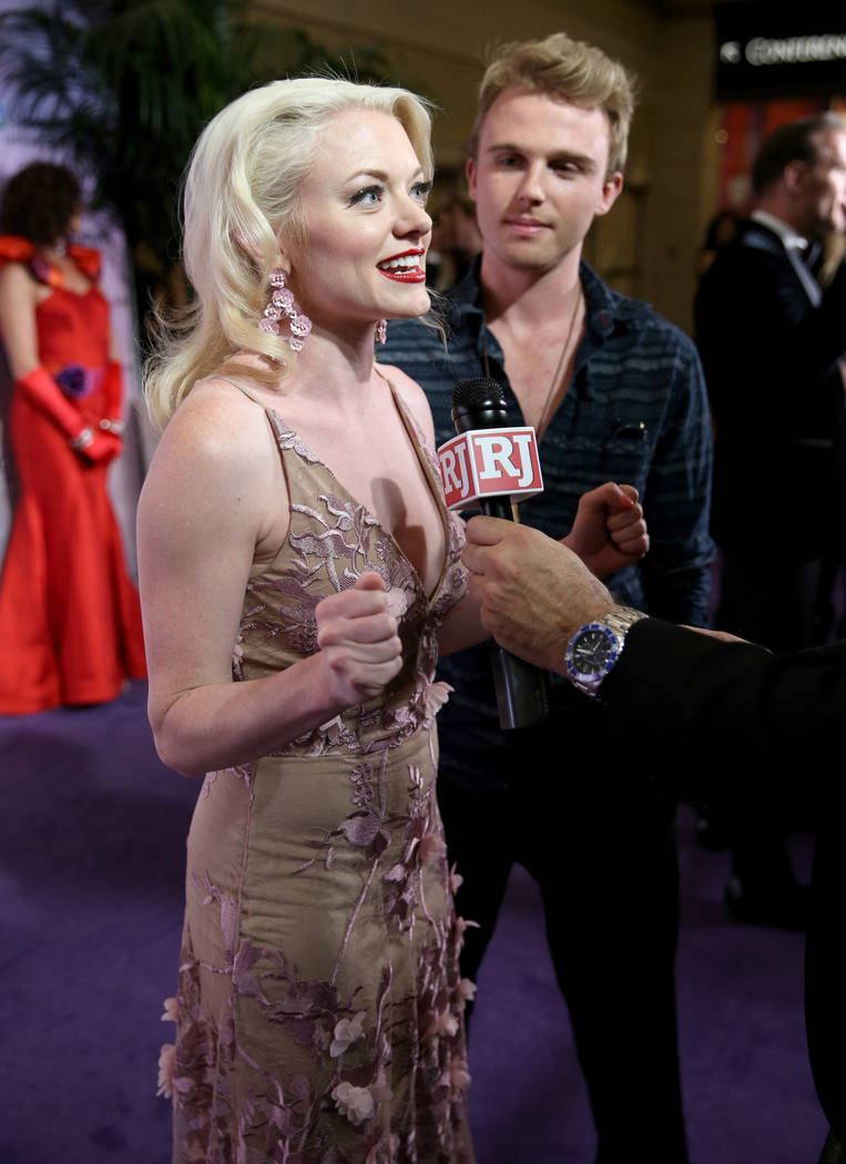 """Ruby Lewis of the upcoming show """"Marilyn! The New Musical"""" at Paris Las Vegas talks to Las Vegas Review-Journal columnist John Katsilometes on the purple carpet at the 22nd annual Power ..."""