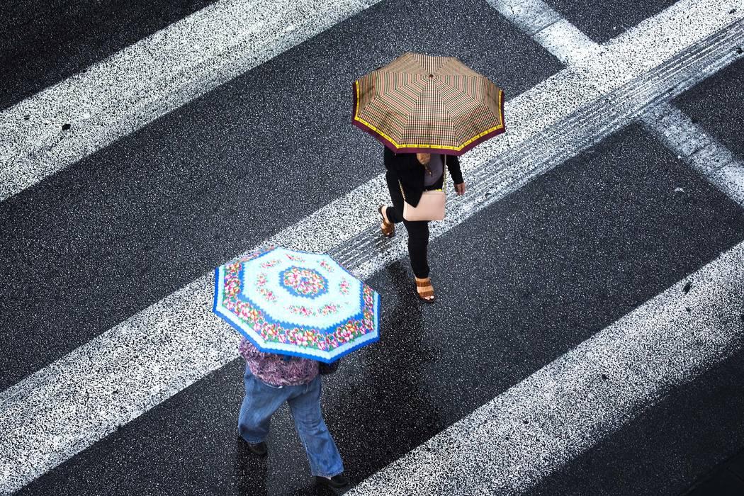 Chance of rain in the Las Vegas Valley this week. (Jeff Scheid/Las Vegas Review-Journal) @jeffscheid
