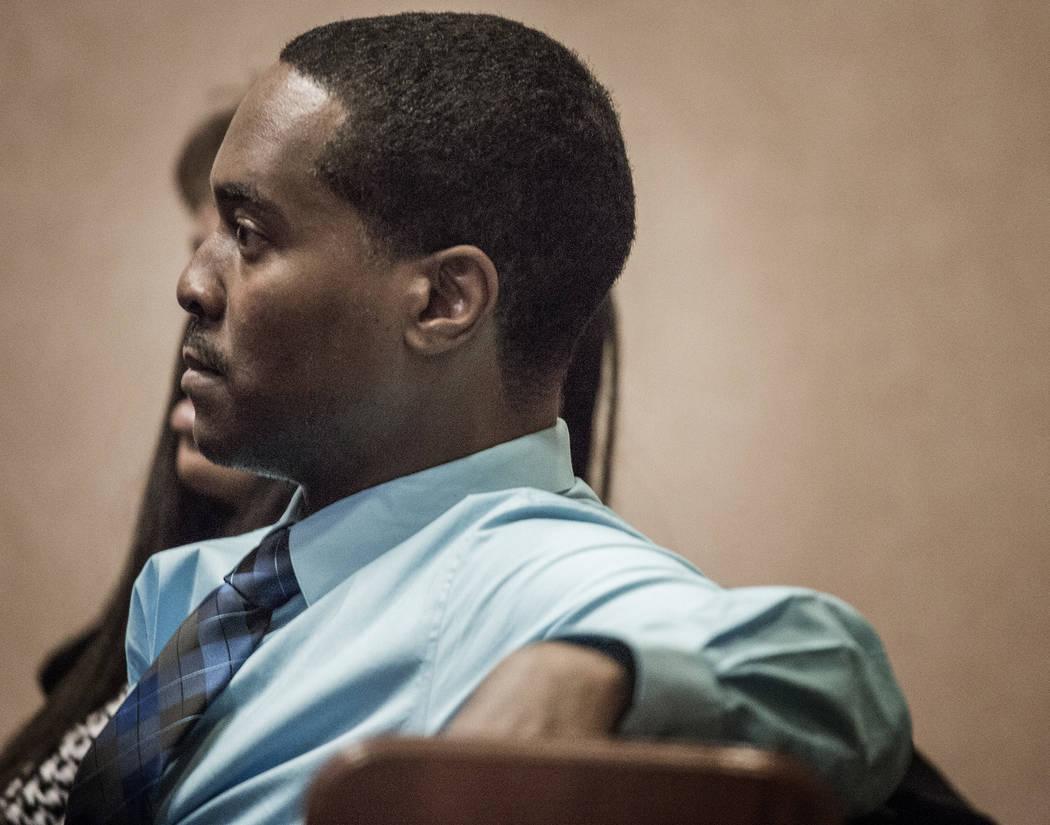Deon Derrico appears in North Las Vegas Justice Court on Wednesday, April 2, 2014. (Jeff Scheid/Las Vegas Review-Journal)
