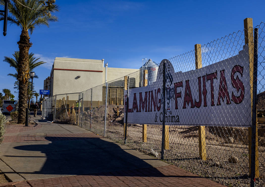 Juan's Flaming Fajitas and Cantina is under construction on Water Street in Henderson on Friday, March 30, 2018.  Patrick Connolly Las Vegas Review-Journal @PConnPie
