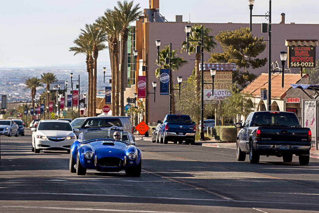 Cars drive up and down Water Street in Henderson on Friday, March 30, 2018.  Patrick Connolly Las Vegas Review-Journal @PConnPie