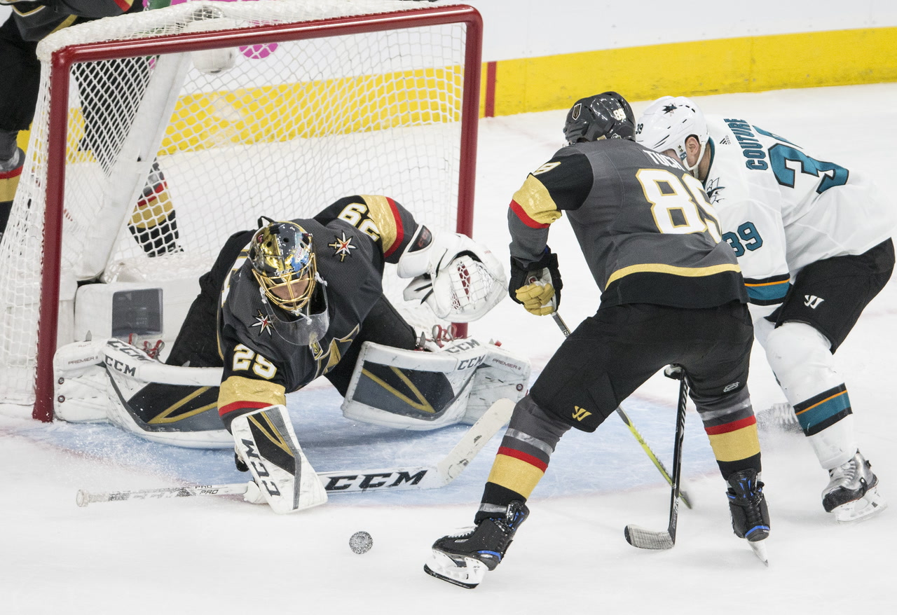 Golden Knights Fall 4-3 To Sharks In Double OT (video)