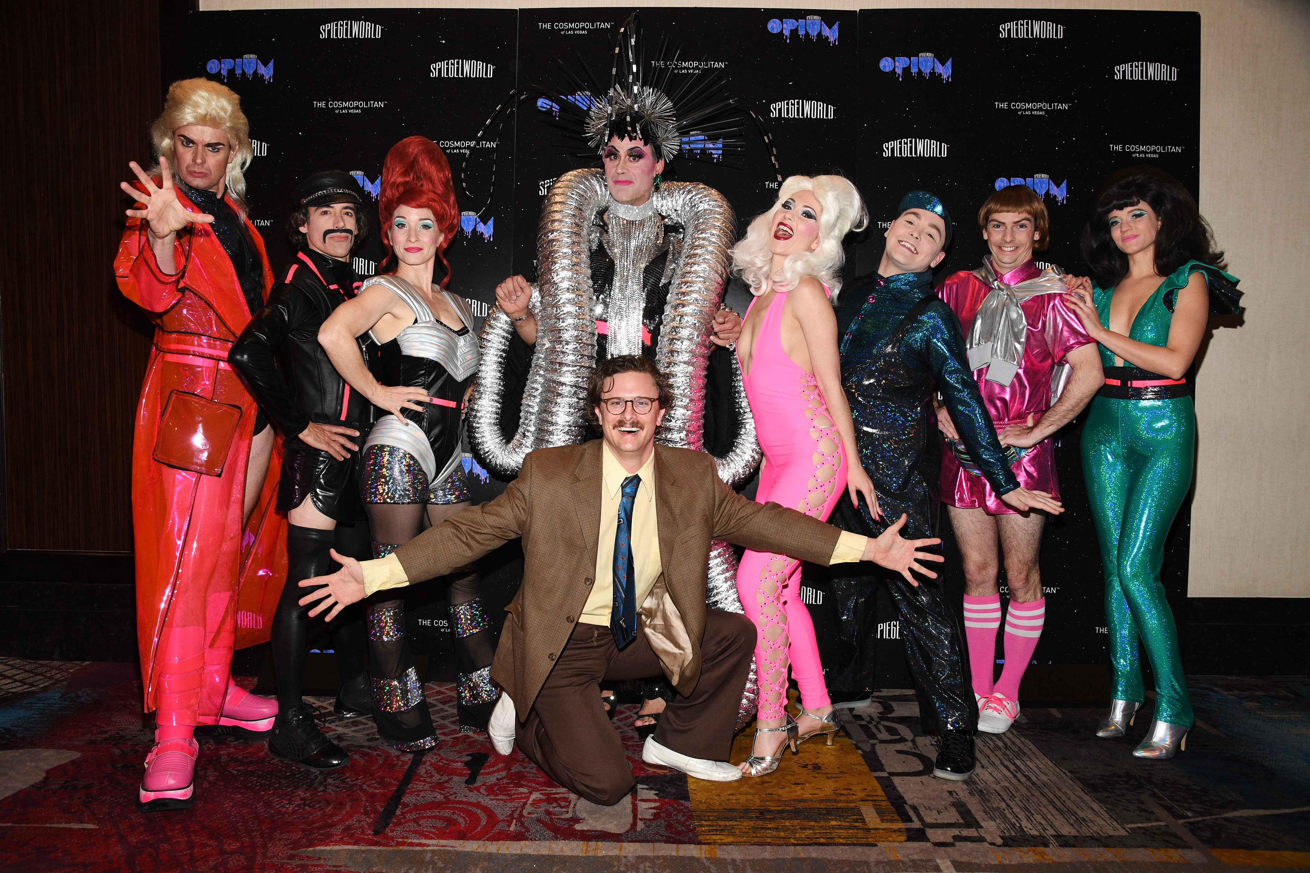 OPIUM Show Promoter Harry M. Howie with the cast_credit Al Powers for Spiegelworld