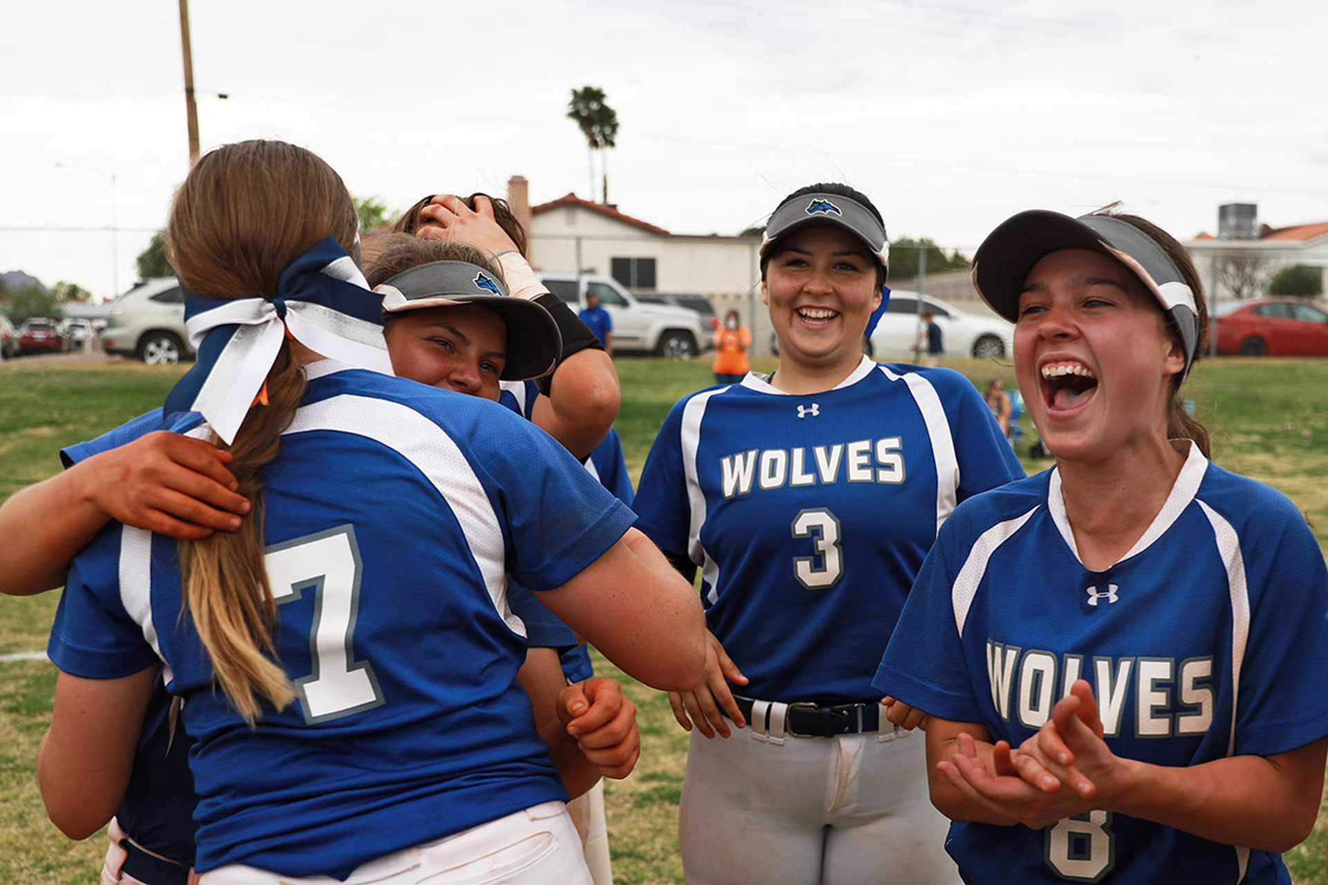 Shelby Basso Mikayla Berg Key Basic Softball Win Over