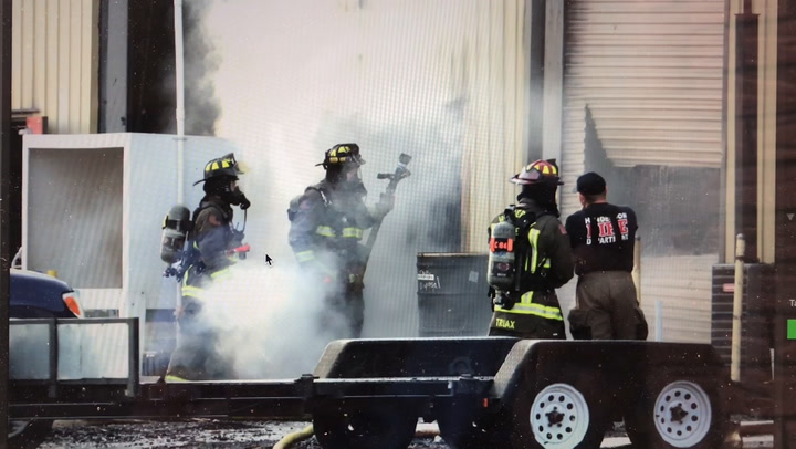 Henderson Firefighters Douse Blaze At Printing Company