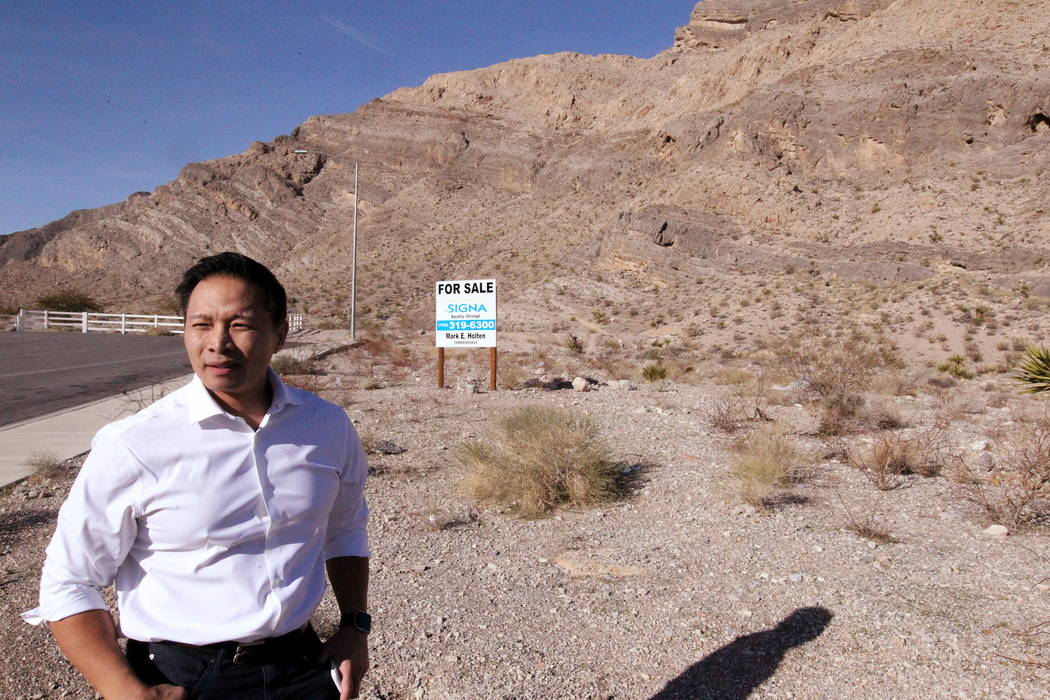 Real estate investor Andy Pham at his northwest Las Vegas property Jan. 29, 2018. Pham and his investors lost control of the multi-million dollar property to fraudsters who filed fake documents wi ...