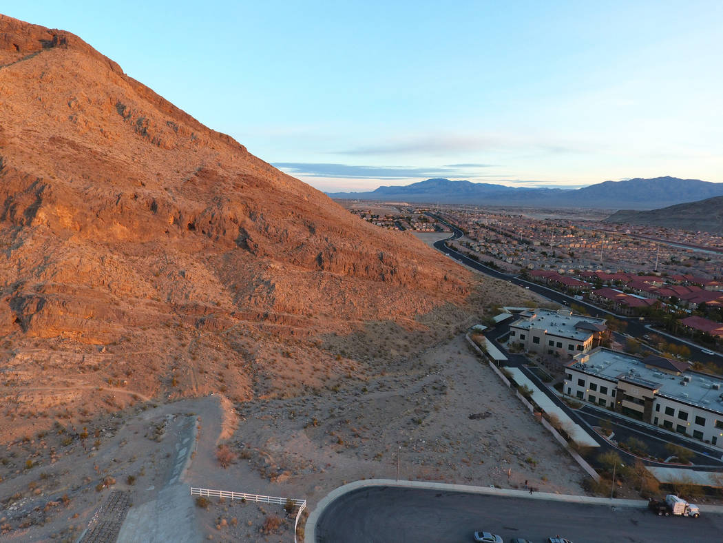 A vacant property valued at $4.9 million, which sits between a cul-de-sac and a mountain just off Cliff Shadows Parkway on the west side of the valley, was allegedly stolen using the Nevada secret ...