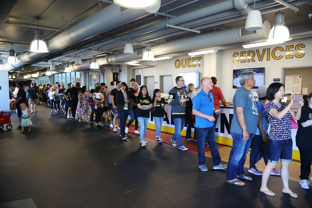 Fans attend the Vegas Golden Knights practice at City National Arena in Las Vegas, Thursday, May 24, 2018. Erik Verduzco Las Vegas Review-Journal @Erik_Verduzco