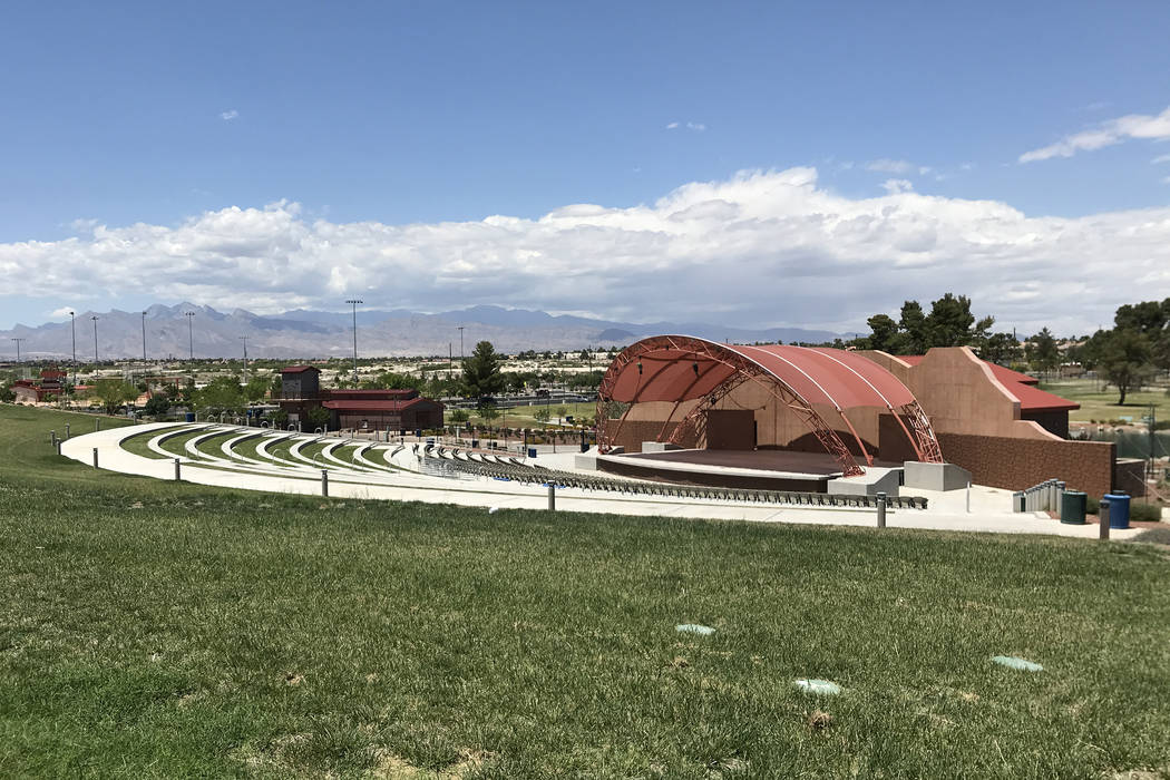 The amphitheater at Craig Ranch Regional Park on Monday, May 14, 2018. Jeff Mosier Las Vegas Review-Journal.