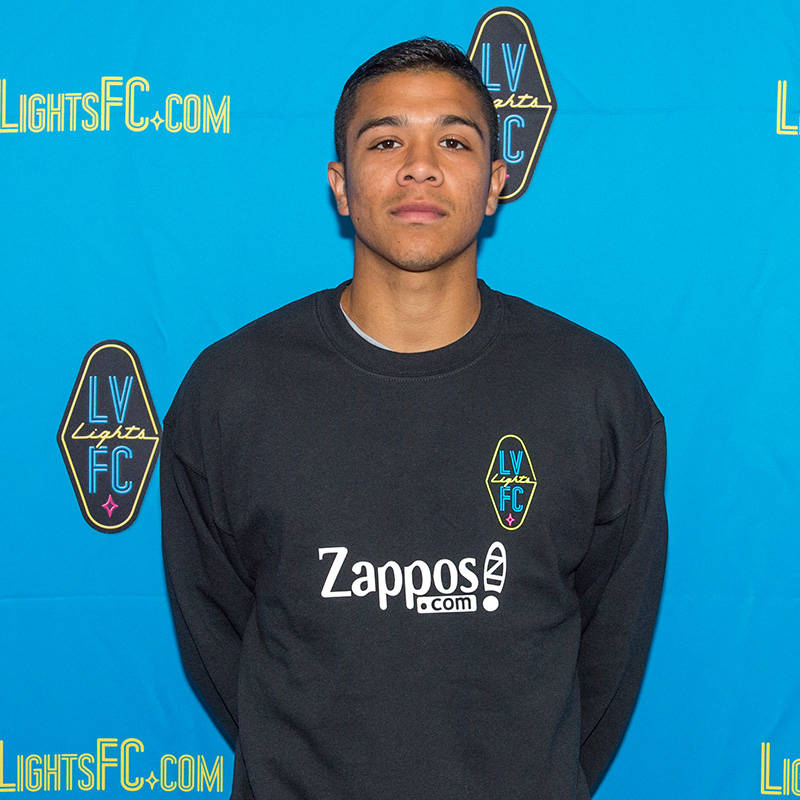 Jorge Guillen-Torres, 23, a defender, has signed a preseason contract with Las Vegas Lights FC, the club announced Tuesday, Jan. 16, 2018. (Las Vegas Lights FC)