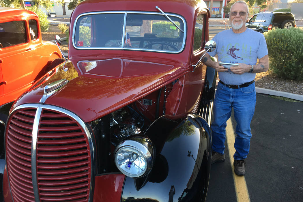 Glenn Immekus spent about two years resotring his 1939 Ford pickup. Among its features is Route 66-themed upholstery, commemorating a 1968 trip Immekus took from the legendary road's start to its ...