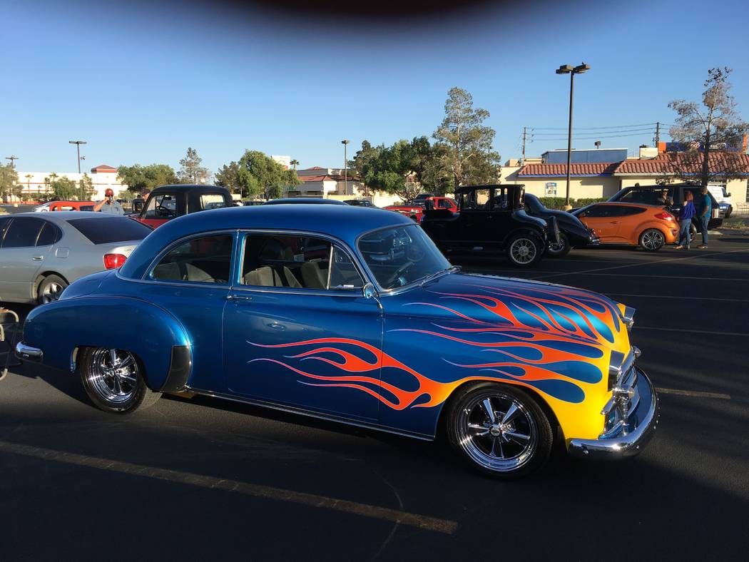 It's a well-known automotive engineering fact that flame decals on the side of a car will mlke it go faster. (John Przybys Las Vegas Review-Journal)