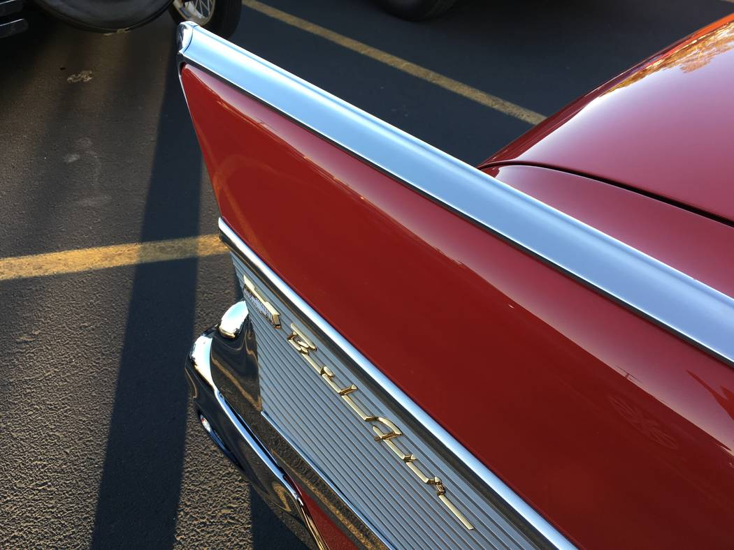 The '50s were a time of space-age design, as illustrated by this fin on a Chevrolet Bel Air. The '50s were a time of space-age design, as illustrated by this fin on a Chevrolet Bel Air. (John Pr ...