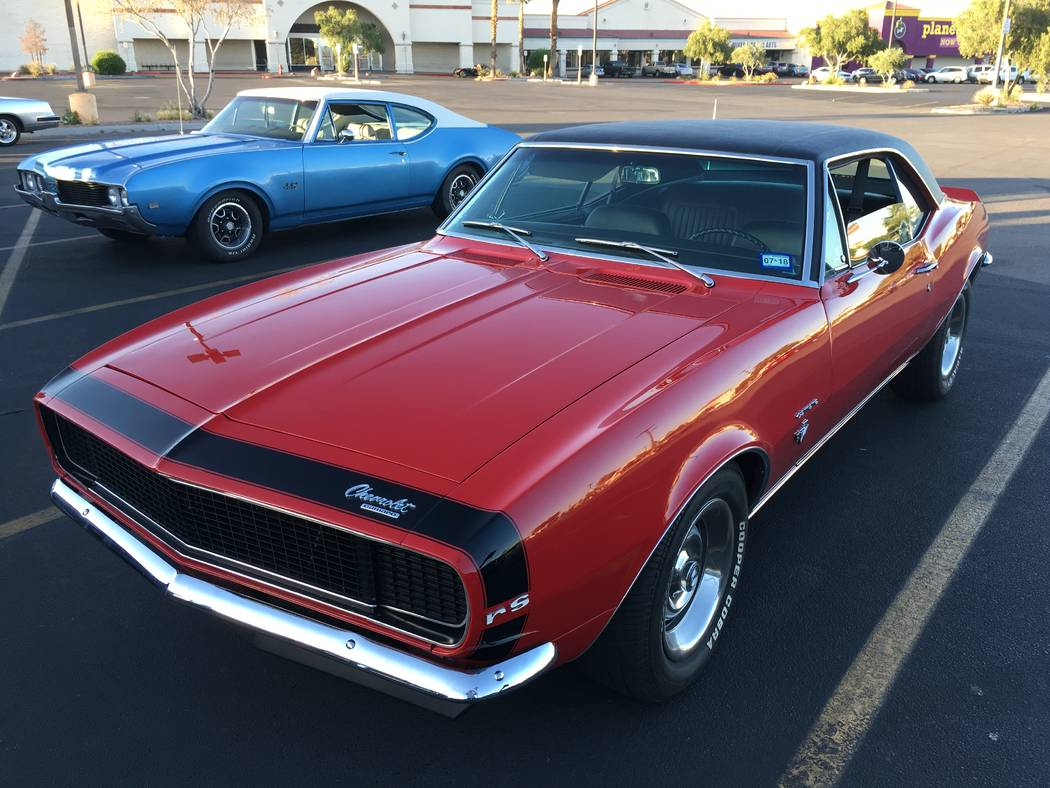 Visitors at the weekly cruise-ins at the Rancho Sierra shopping center can view classics like this Chevrolet Camaro Rally Sport edition. (John Przybys Las Vegas Review-Journal)