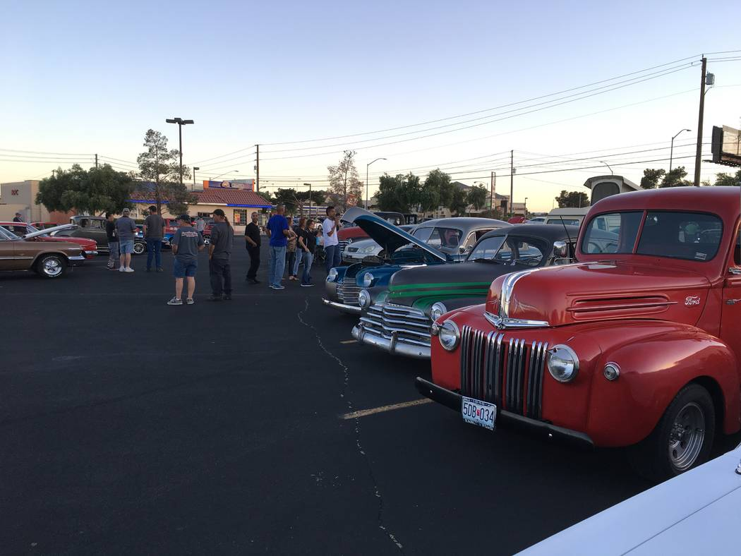 "The weekly Friday evening ""cruise-in"" at the Rancho Sierra shopping center always attracts cool cars and nice people. (John Przybys Las Vegas Review-Journal)"