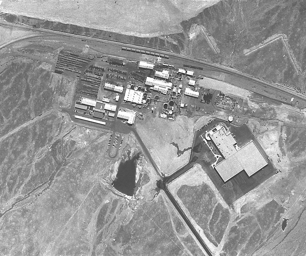 The PEPCON (Pacific Engineering & Production Co. of Nevada) facility in Henderson is shown in this aerial photograph sometime prior to the May 4, 1988 explosions. (Las Vegas Review-Journal archive)