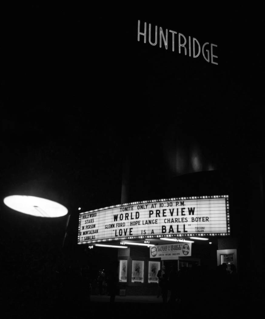 3/1/1963 - Huntridge Theater - Movie premier for Love is a Ball at the Huntridge Theater in Downtown Las Vegas. Movie starred Glenn Ford, Hope Lange, Ricardo Montalban, Telly Savalas, Charles Boyer,