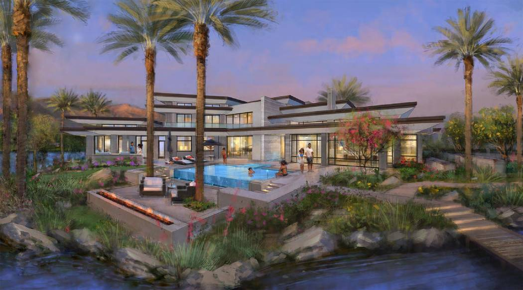 This showcase home at Lake Las Vegas' South Shore will feature contemporary architecture. (Swaback Architects + Planners)