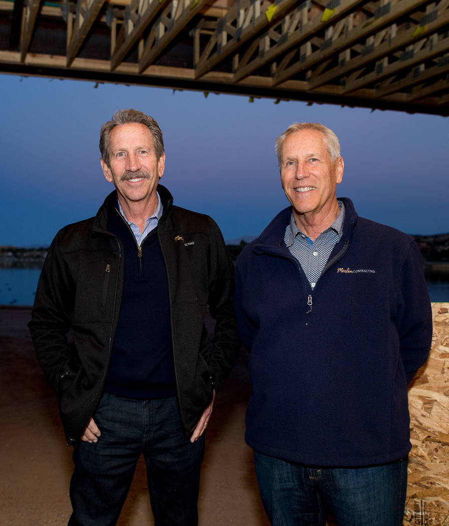 Bart Jones, chief financial officer and Steve Jones CEO and founder of of Merlin Contracting. (Tonya Harvey)