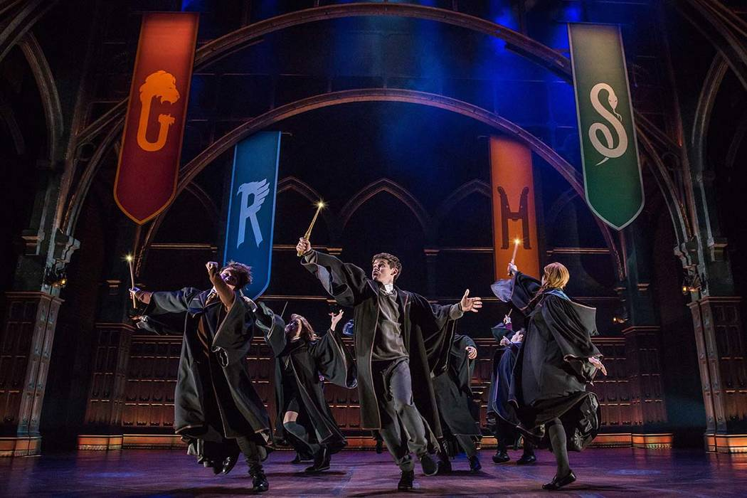 """A scene from the production of""""Harry Potter and the Cursed Child,"""" in New York. (Matthew Murphy/Boneau/Bryan-Brown via AP)"""