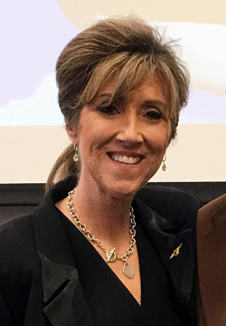 Tammie Jo Shults, one of the pilots of a Southwest Airlines twin-engine Boeing 737 bound from New York to Dallas on March 20, 2017 that made an emergency landing at the Philadelphia International ...