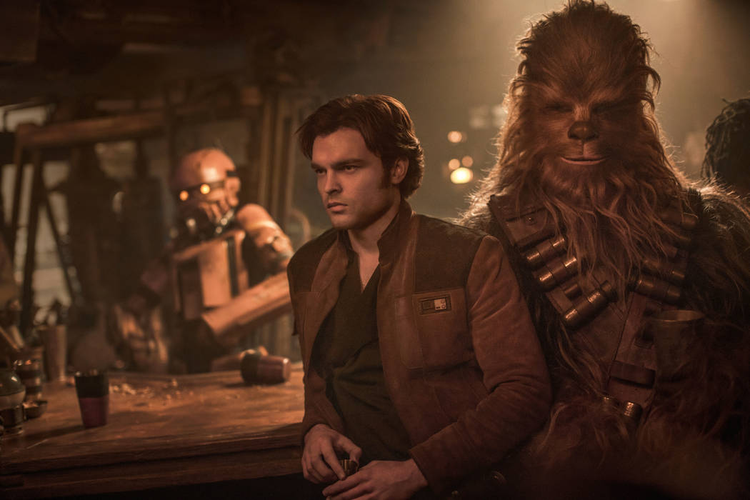 Alden Ehrenreich is Han Solo and Joonas Suotamo is Chewbacca in SOLO: A STAR WARS STORY. Copyright: 2017 Lucasfilm Ltd