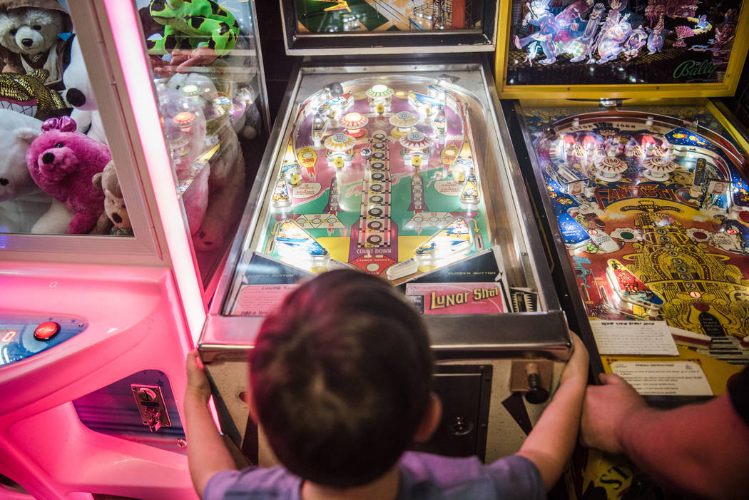 Cole Maier, 9, tries out his pinball skills at Pinball Hall of Fame on Tuesday, Aug. 22, 2017, in Las Vegas. Morgan Lieberman Las Vegas Review-Journal