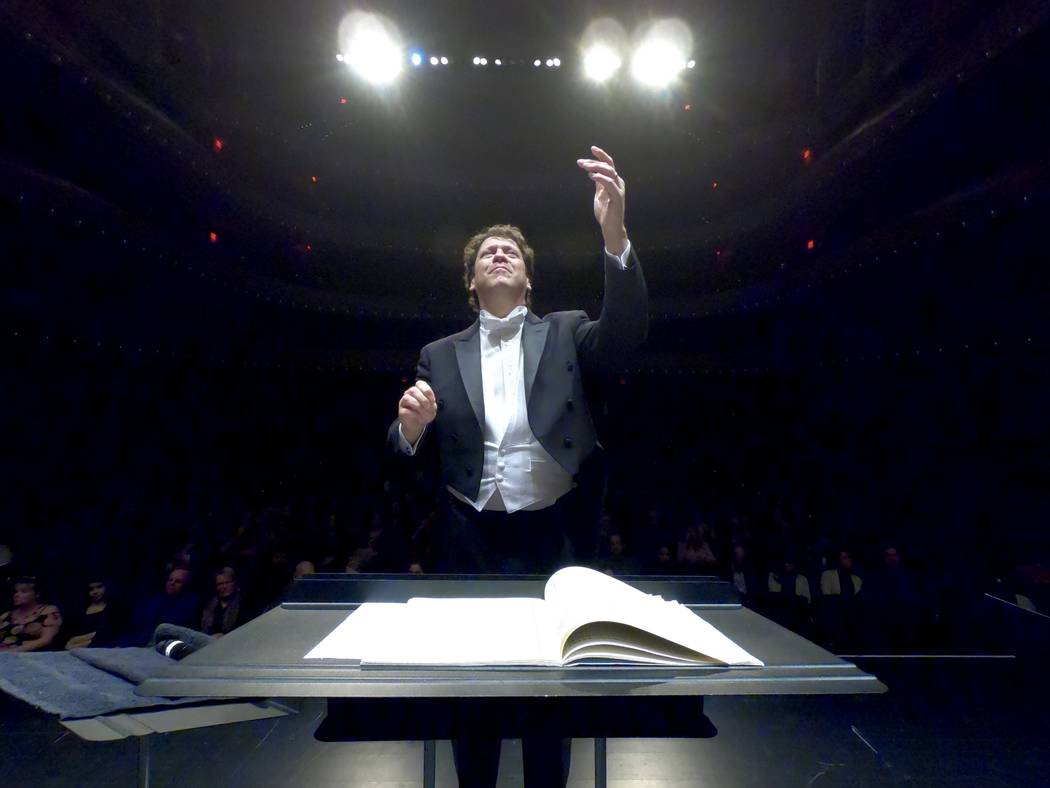 Music director Donato Cabrera leads the Las Vegas Philharmonic in a February concert at The Smith Center's Reynolds Hall.