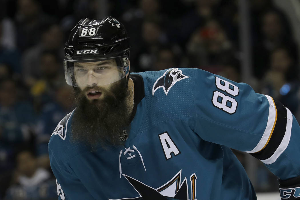 online retailer fb274 1263f Sharks' Brent Burns would rather talk about travel than ...