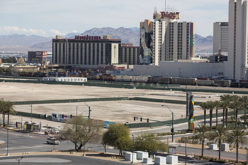 Parcels of land at Symphony Park at the corner of Grand Central Pkwy. and Symphony Park Ave. in downtown Las Vegas on Monday, March 12, 2018. Richard Brian Las Vegas Review-Journal @vegasphotograph