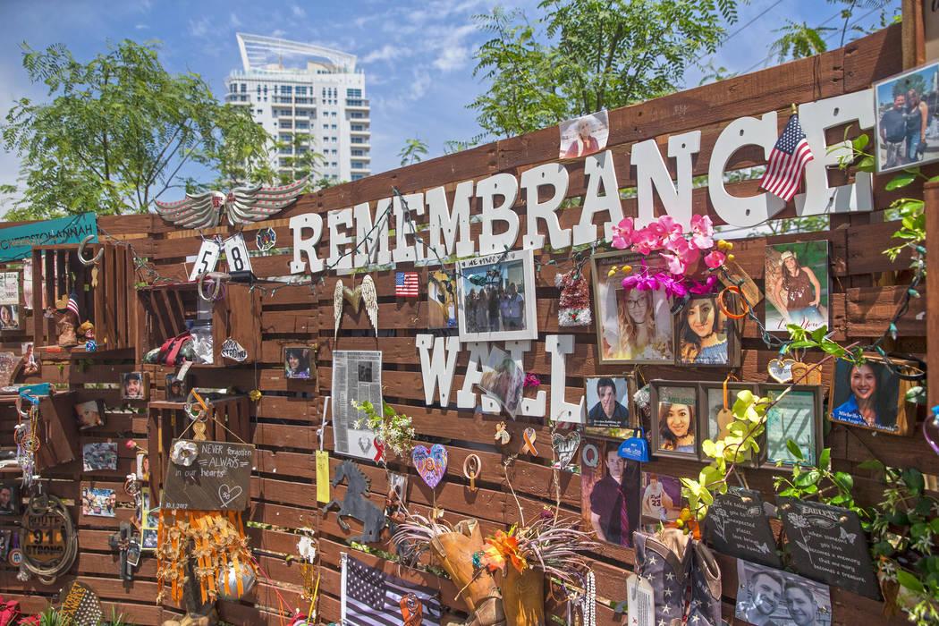 The healing garden memorializing victims of the October 1 shooting on Wednesday, May 2, 2018, in Las Vegas. Benjamin Hager Las Vegas Review-Journal @benjaminhphoto