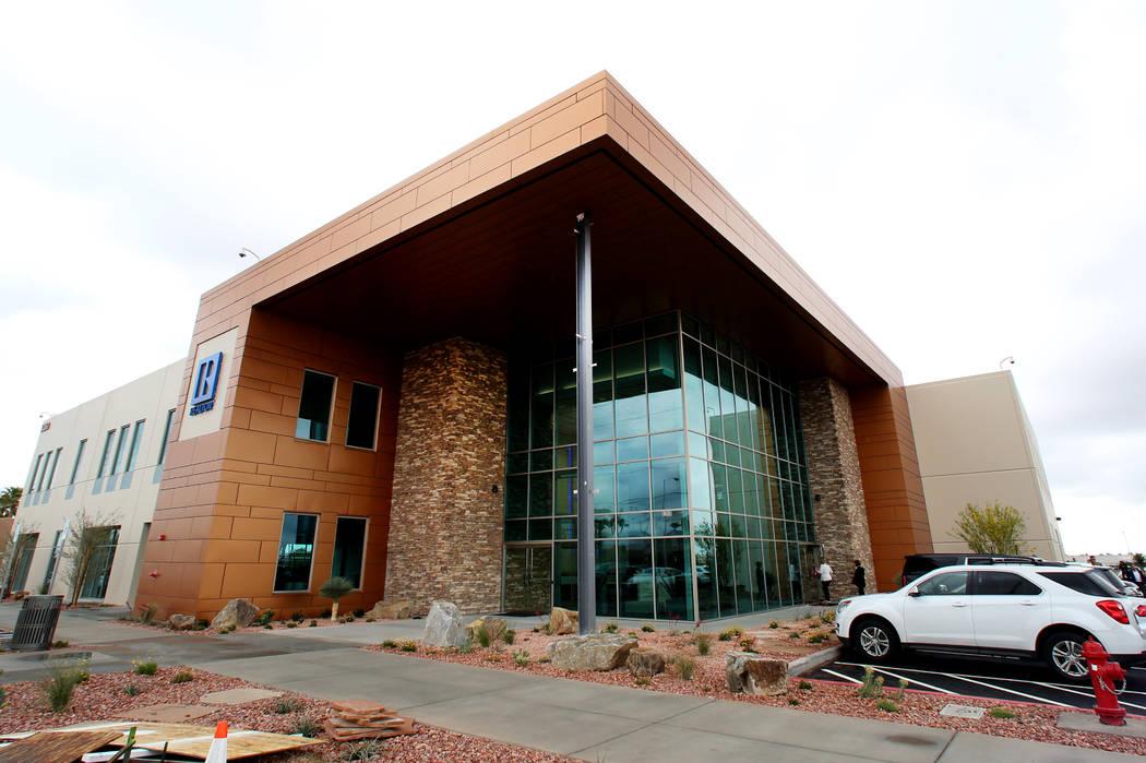The exterior of the Greater Las Vegas Association of Realtors' new headquarters photographed on Wednesday, May 2, 2018, in Las Vegas. Bizuayehu Tesfaye/Las Vegas Review-Journal @bizutesfaye