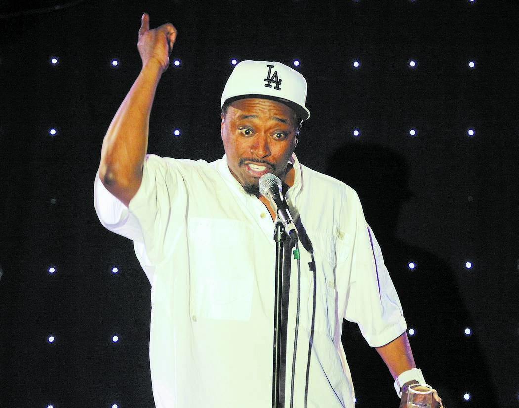 Comedian Eddie Griffin performs on stage in the King's Room at the Rio hotel-casino on Monday, April 16, 2012. Griffin is scheduled to perform Monday through Wednesday at 7pm in a limited engageme ...