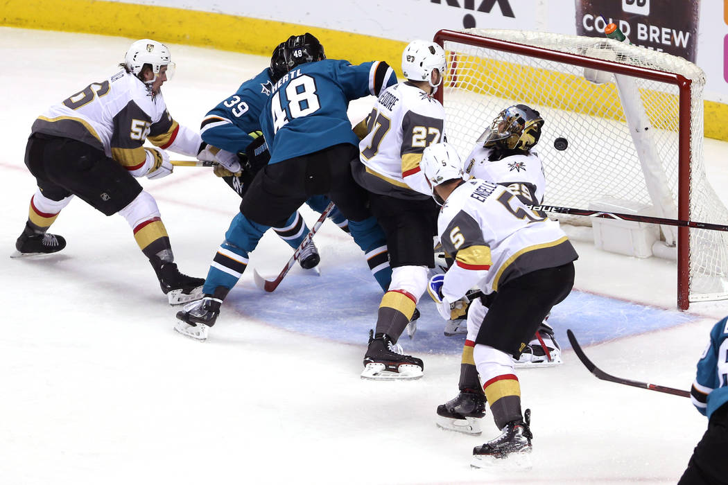 Sharks Blank Golden Knights 4-0 To Even Series