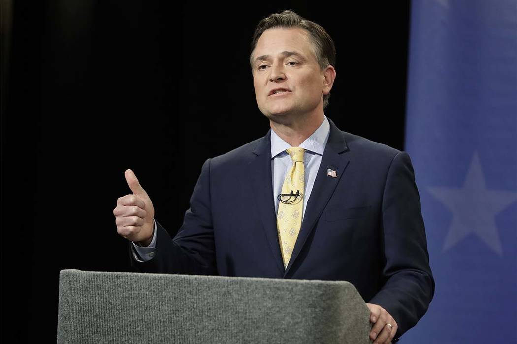 Rep. Luke Messer, R-Ind., is among a group of House Republicans seeking the Nobel Peace Prize for President Donald Trump because of his work to ease nuclear tensions with North Korea. (Darron Cumm ...