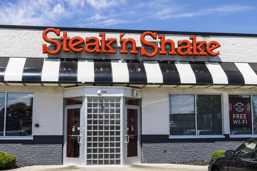 Steak 'n Shake Retail Fast Casual Restaurant Chain. (Getty Images)