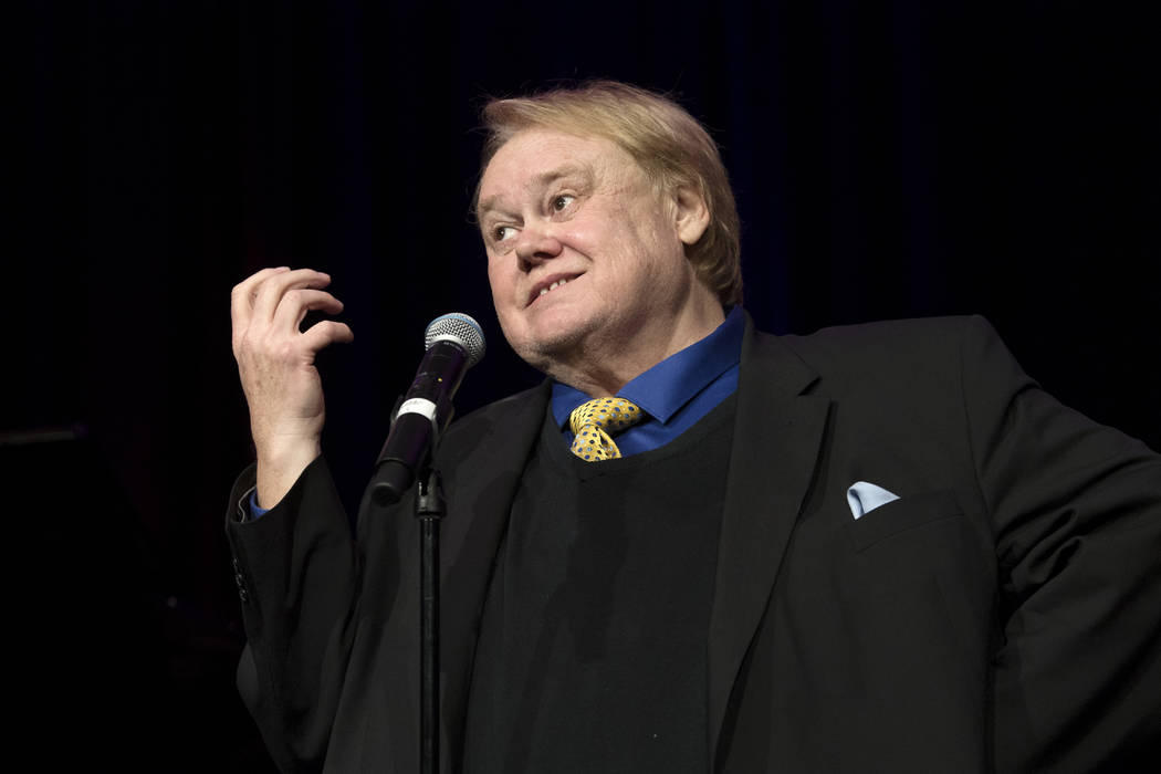 Comedian Louie Anderson reminisces during a memorial for comedian Marty Allen on what would have been his 96th birthday Friday, March 23, 2018, at the Rampart Casino at The Resort at Summerlin. Al ...