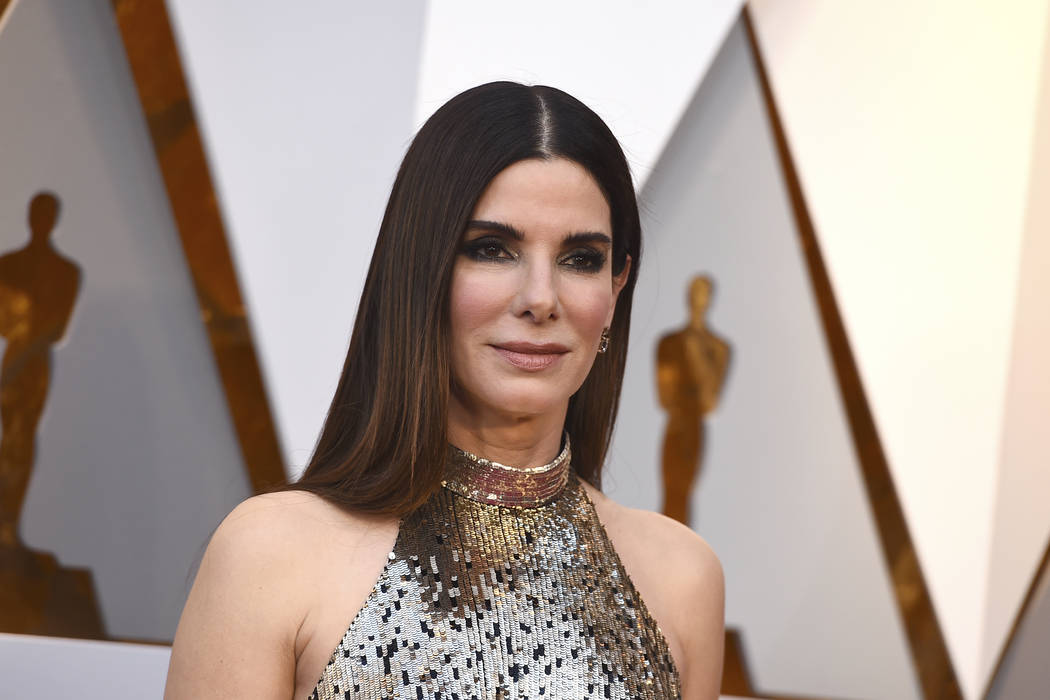 Sandra Bullock arrives at the Oscars in Los Angeles on March 4, 2018. (Jordan Strauss/Invision/AP, FIle)
